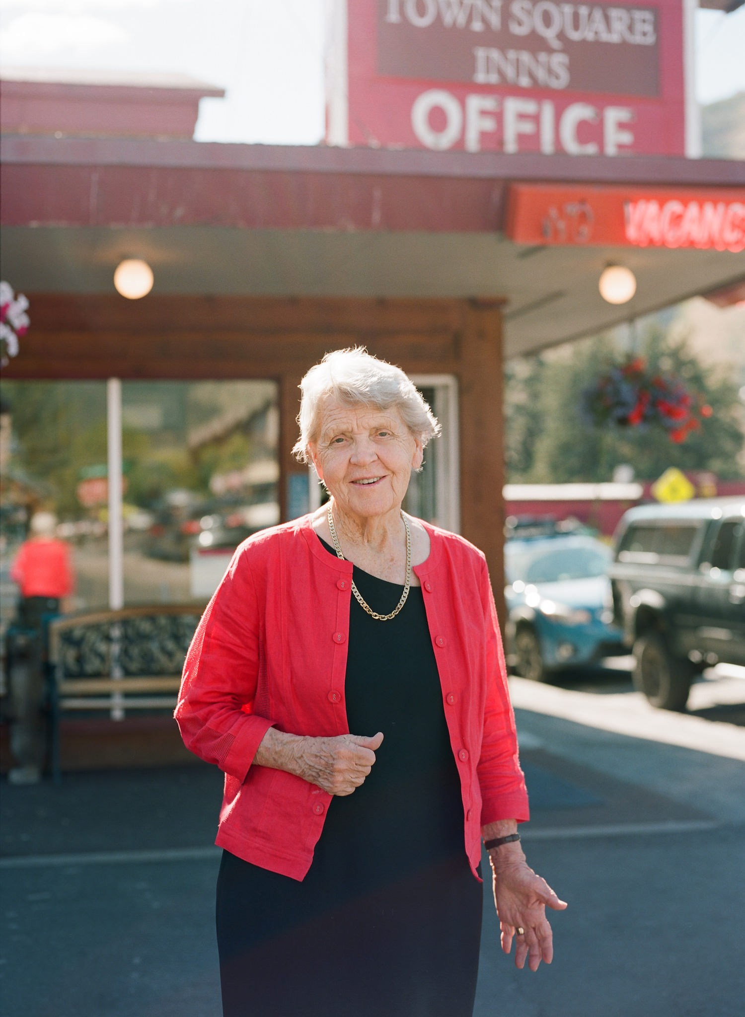 At 84 years old, most days you'll find Clarene at work in her office at the Antler Motel.