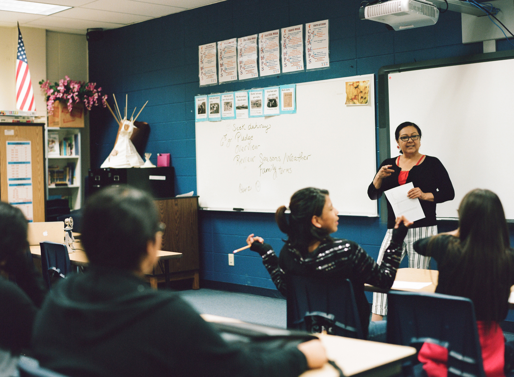 Formerly an educator, Lynette believes in preserving and sharing the Shoshone language and culture to instill pride within the next generation on the Wind River Reservation.