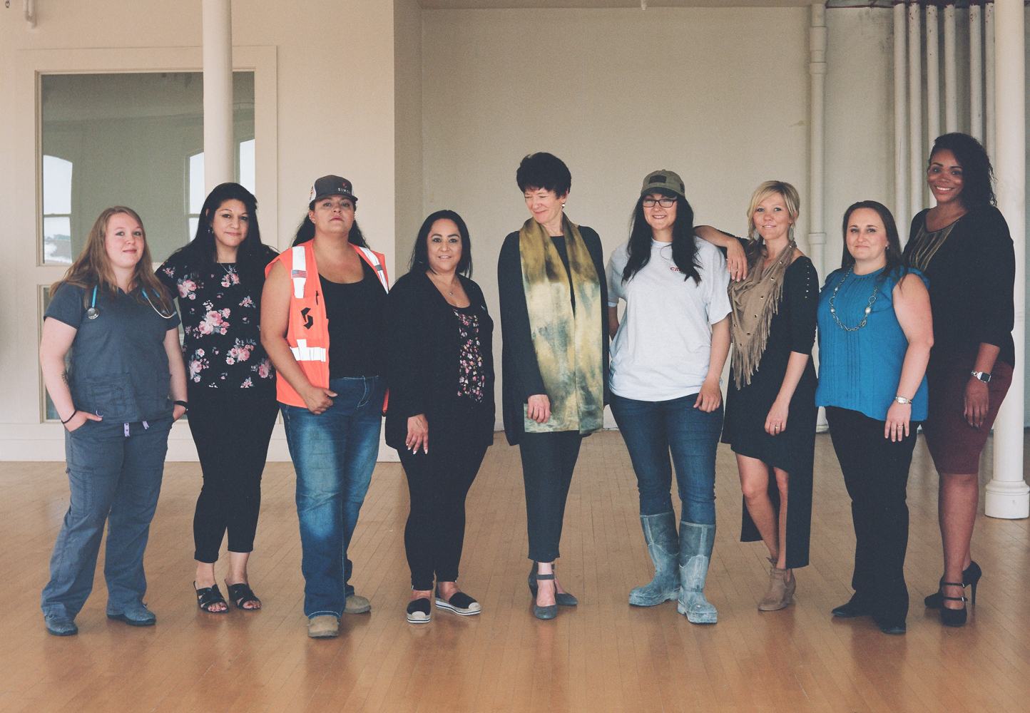 Graduates, staff and the founder of Climb Wyoming — a statewide nonprofit empowering low income, single moms by providing free career training, mental health counseling and job placement in six Wyoming communities. Left to Right: Shaylynn, Val, Irene, Brenda, founder Dr. Ray, Sarah, Misty, Amy and Artesia.