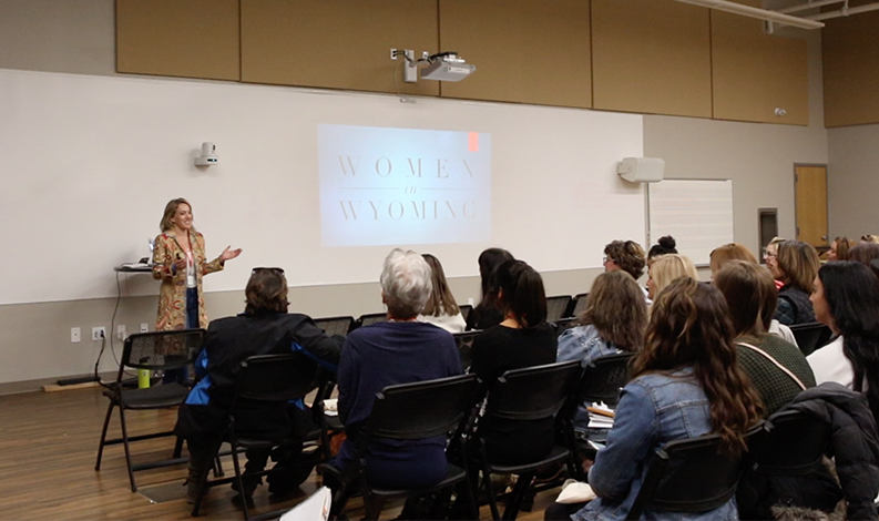 Presenting at FAB: Sheridan Women's Conference in 2019.