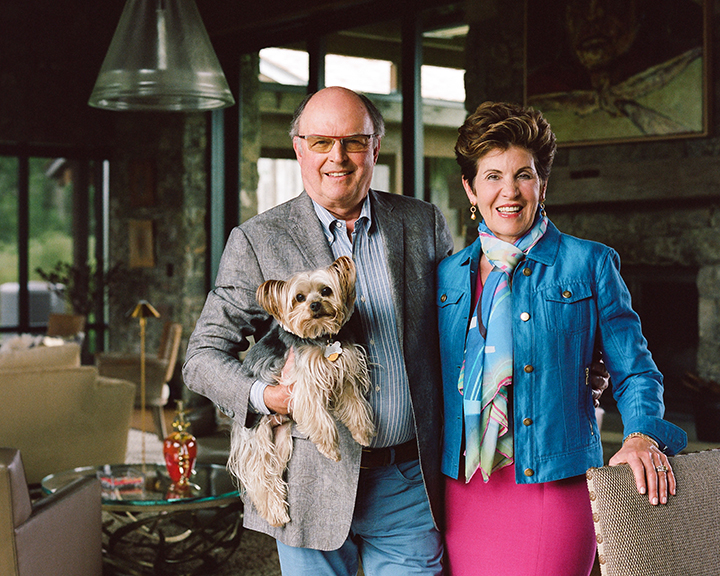WW Founding Partners and Advisors, David and Debby Hopkins, with Nigel.