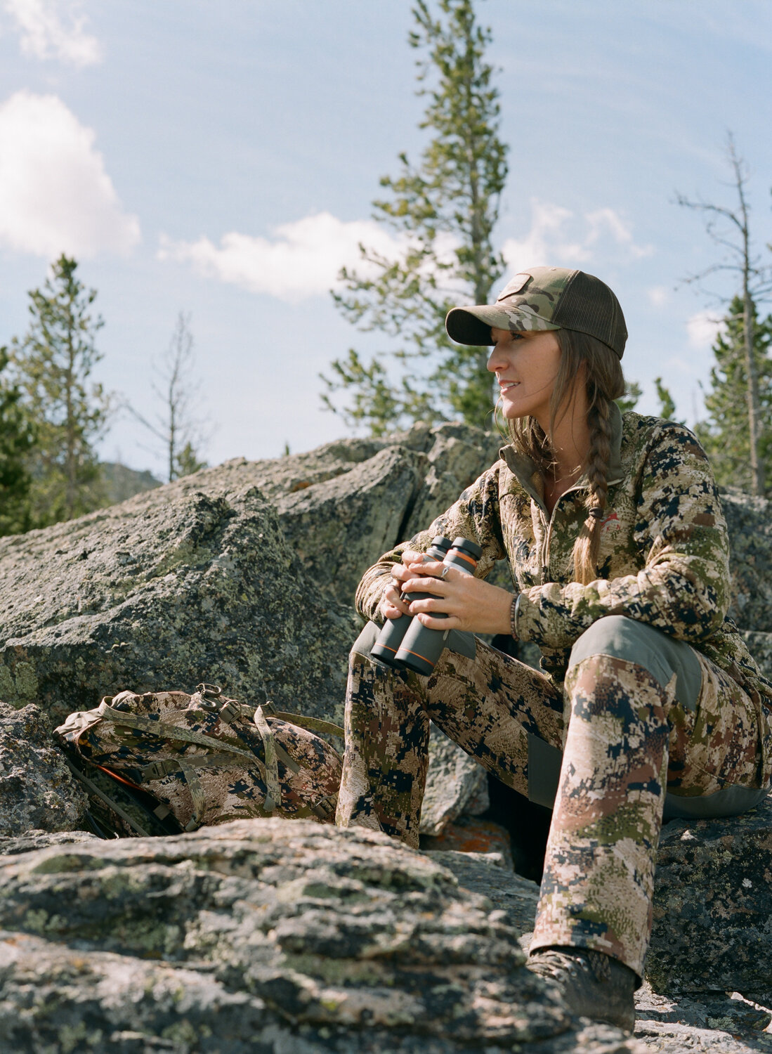 In the fall, Jessie guides archery and rifle hunters.