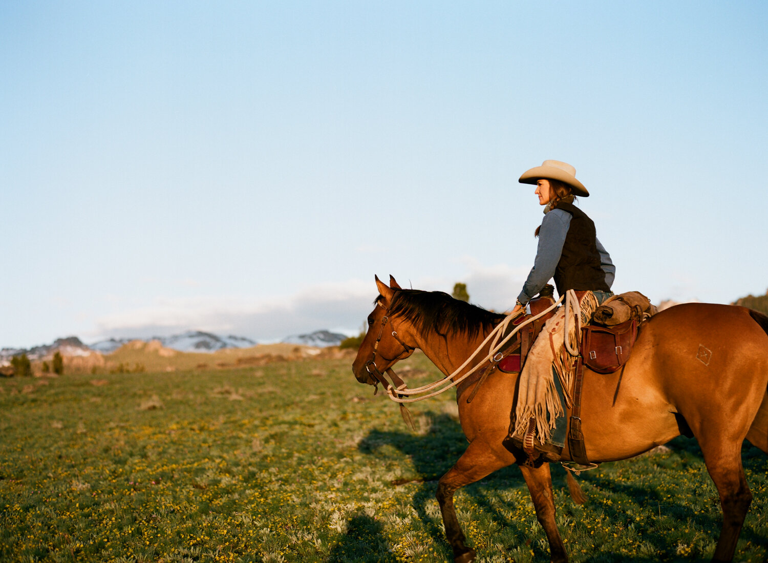 Jessie spends half the year living off the grid and running her family's guest ranch, The Allen's Diamond 4, Wyoming's highest elevation guest ranch located at 9,200 feet in the Wind River Mountains.