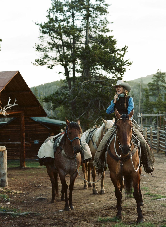 Jessie Allen at Allen's Diamond 4 Ranch, Wyoming's highest elevation guest ranch at 9,200 feet.