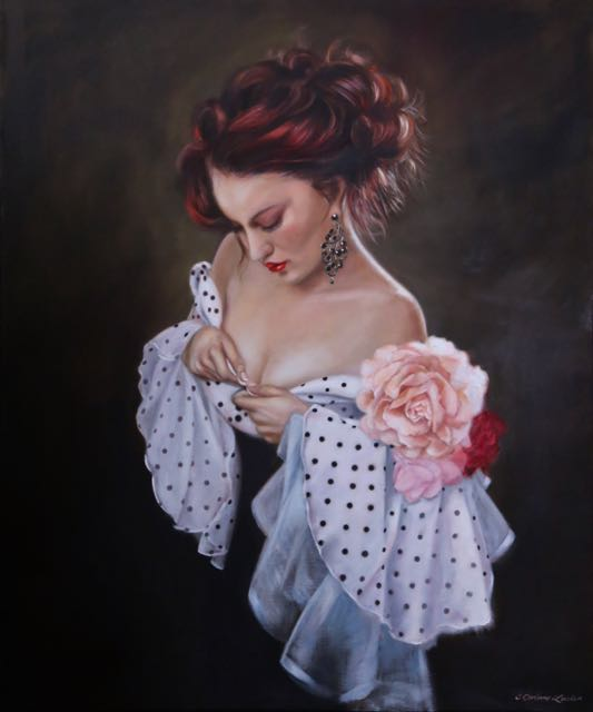 'Words and Music' Original Oil painting by  Corinne Lewis  available as a Limited Edition Print. © Corinne Lewis