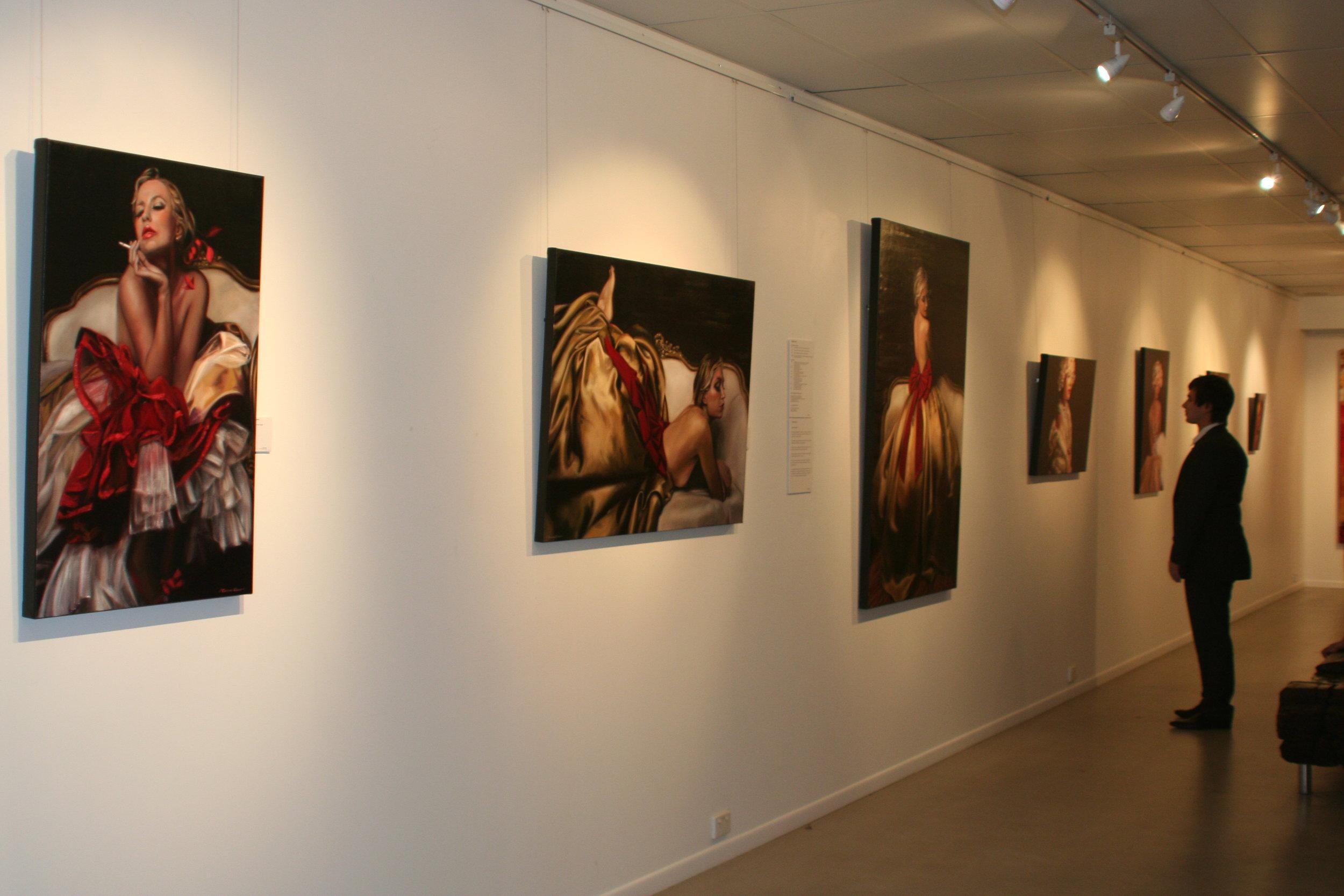 One of Corinne's exhibitions. Brisbane