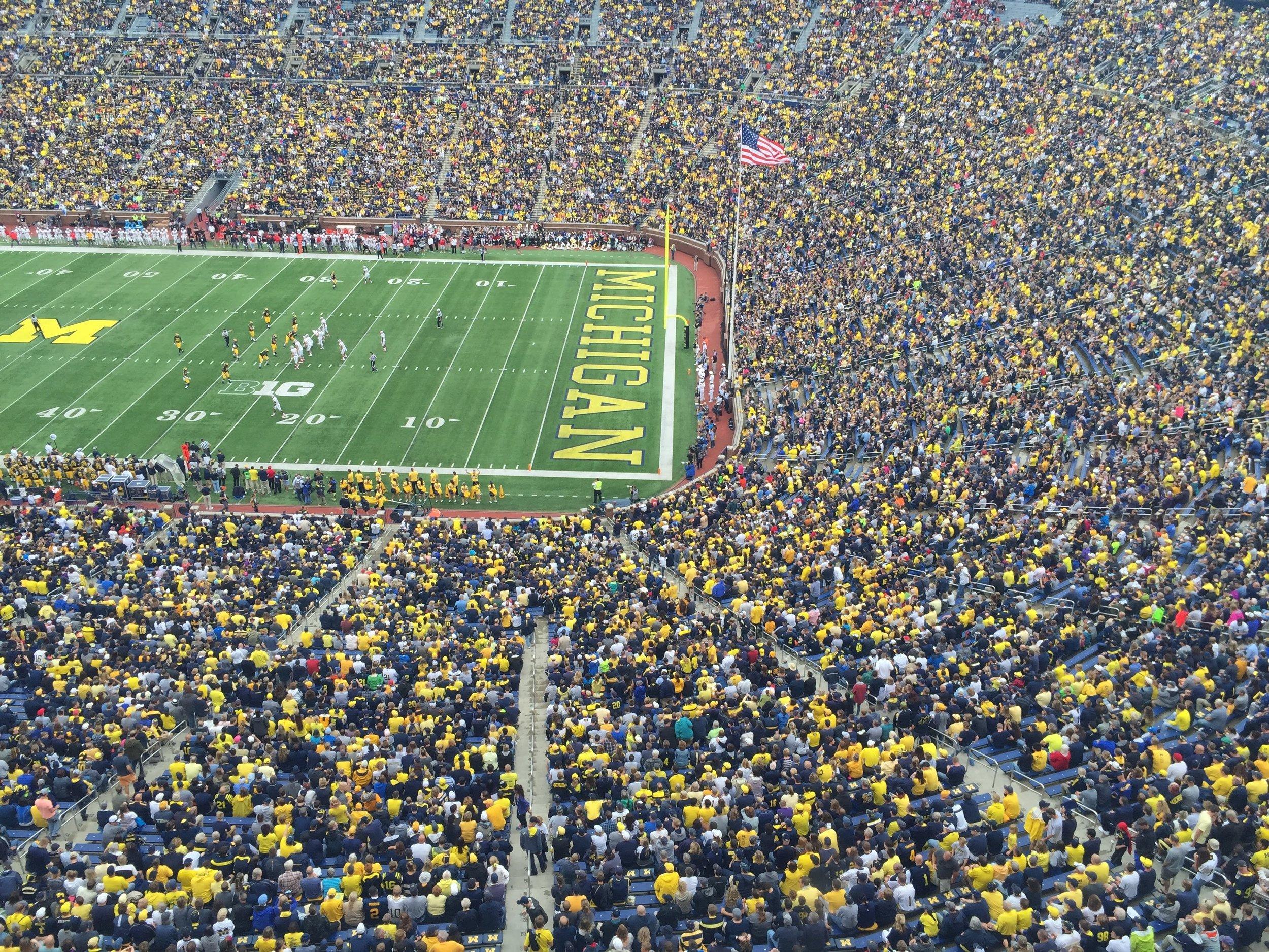 September 19, 2015, Michigan Stadium (Ann Arbor, MI)