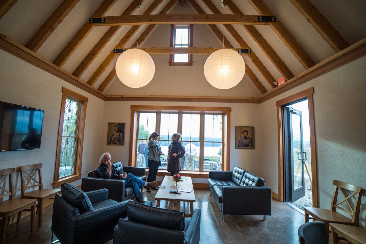Inside La Bourgade On Seneca's 24/7 community and fitness center 'Meeting House', available for private events (residents book for free).