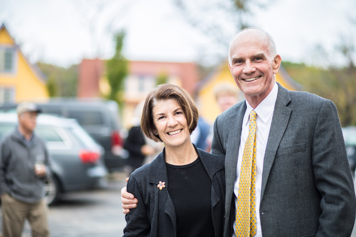 Owner and builder Bruno Schickel with his wife Amy Dickinson
