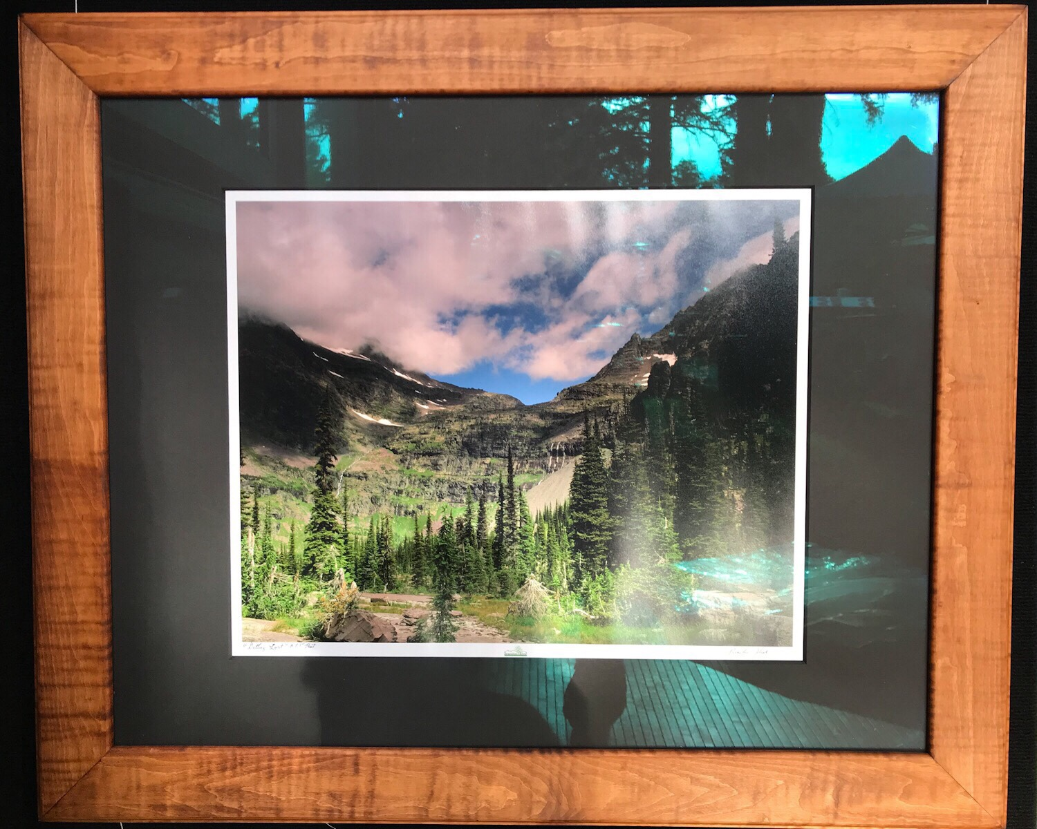 """Getting Lost"" - 16x20 print, 24x30 black mat and museum glass, custom curly maple frame 30x36 outer dimensions - Brandon Kline"