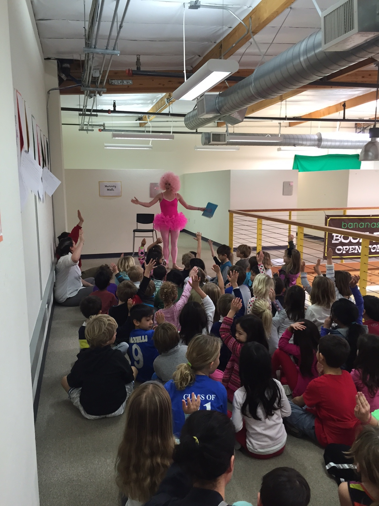 I sang about the planet to kids dressed up as a giant pink cloud. -