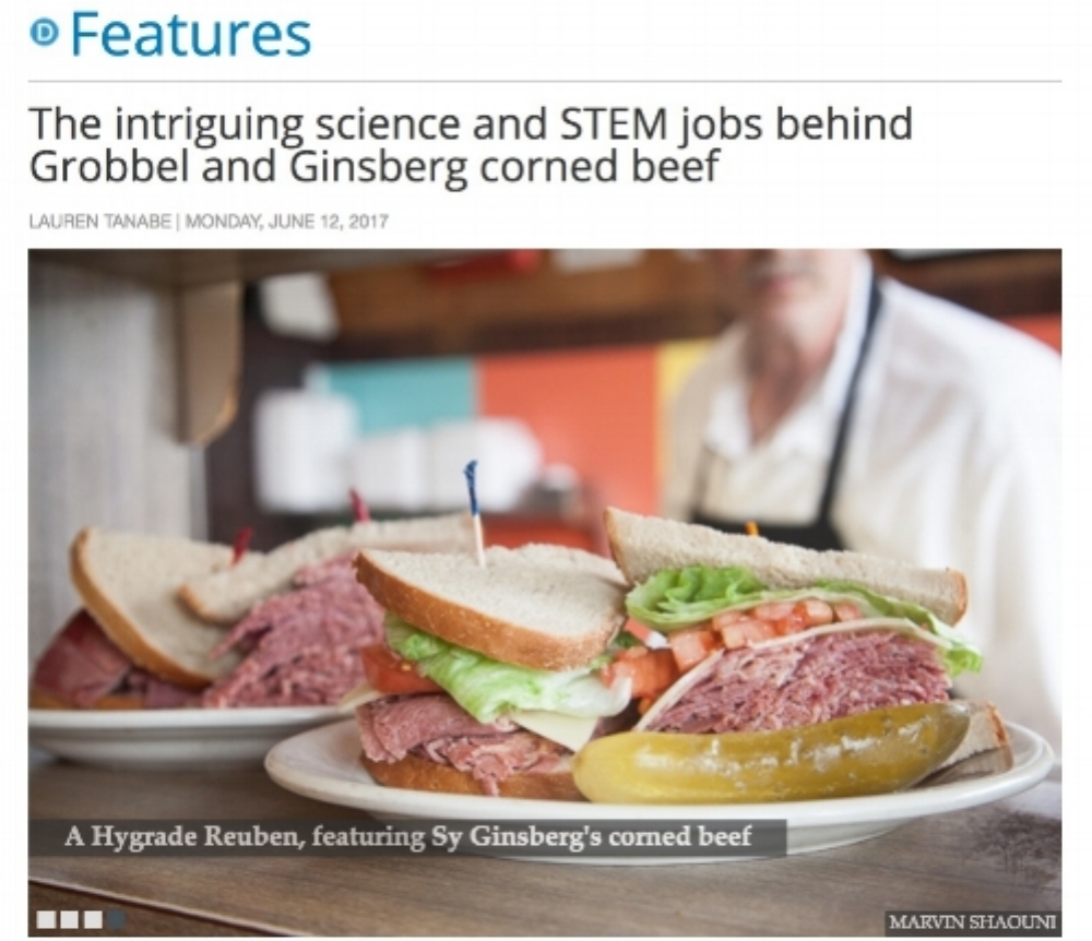 The intriguing science and STEM jobs behind Grobbel and Ginsberg corned beef, Feature Story, Model D, June 12, 2017 -