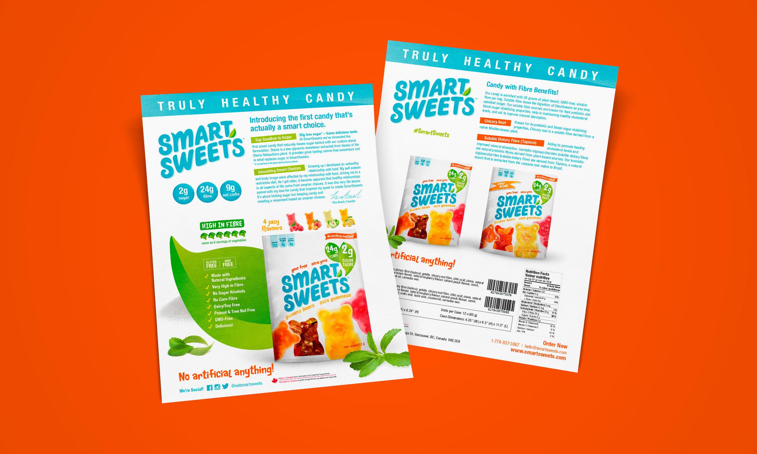 Dana Lu graphic design smartsweets retailer sell sheet