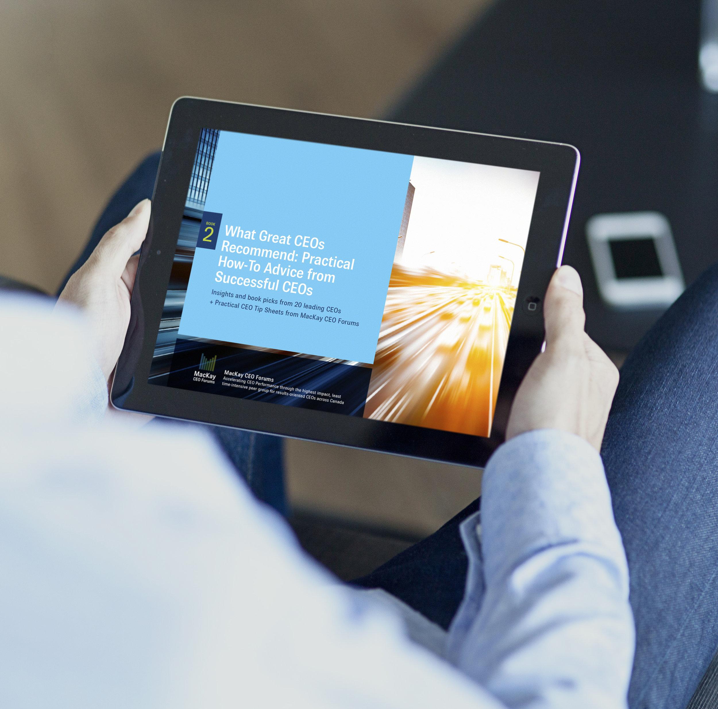 MacKay CEO Forums ebook on ipad