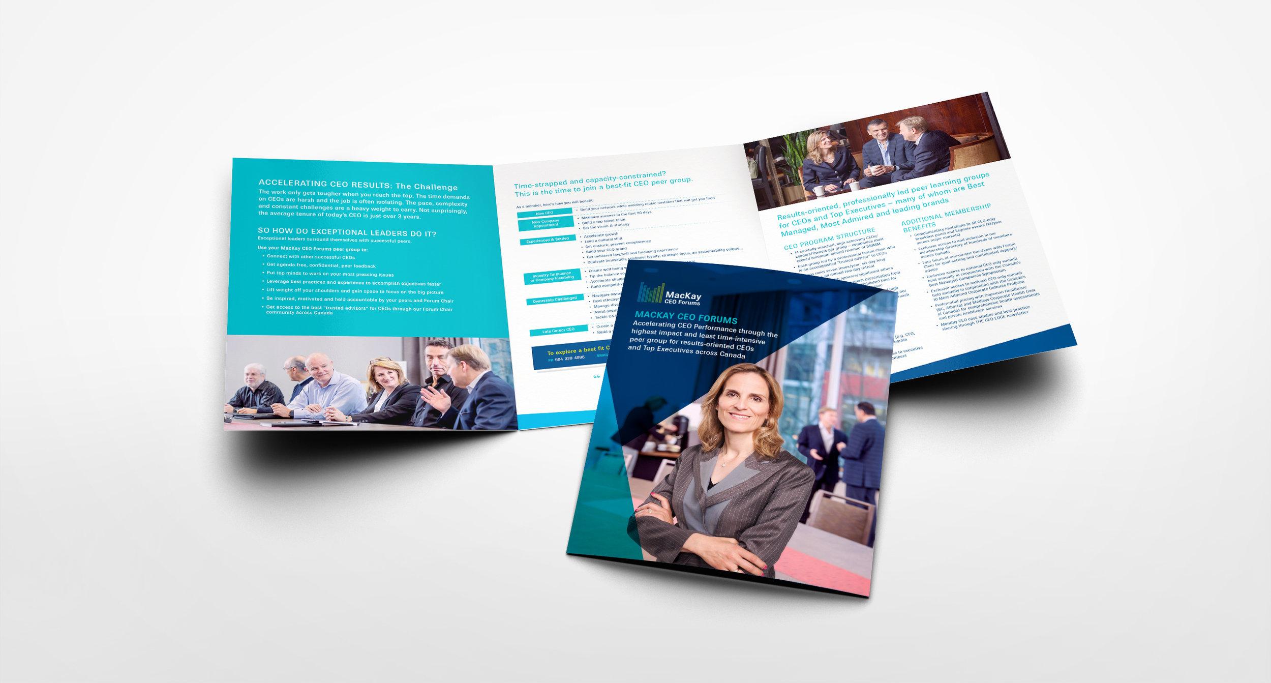 MacKay CEO Forums brochure design