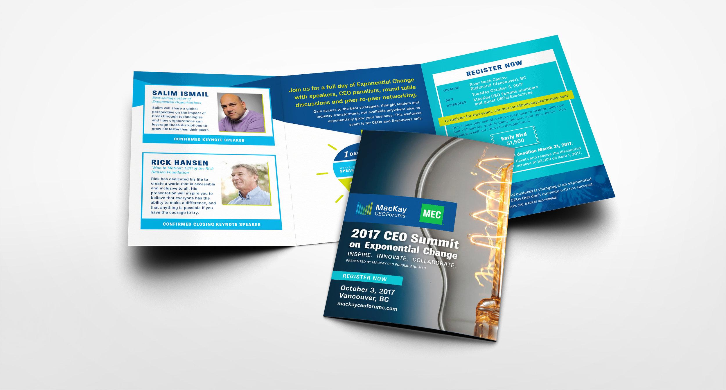MacKay CEO Forums CEO summit brochure design