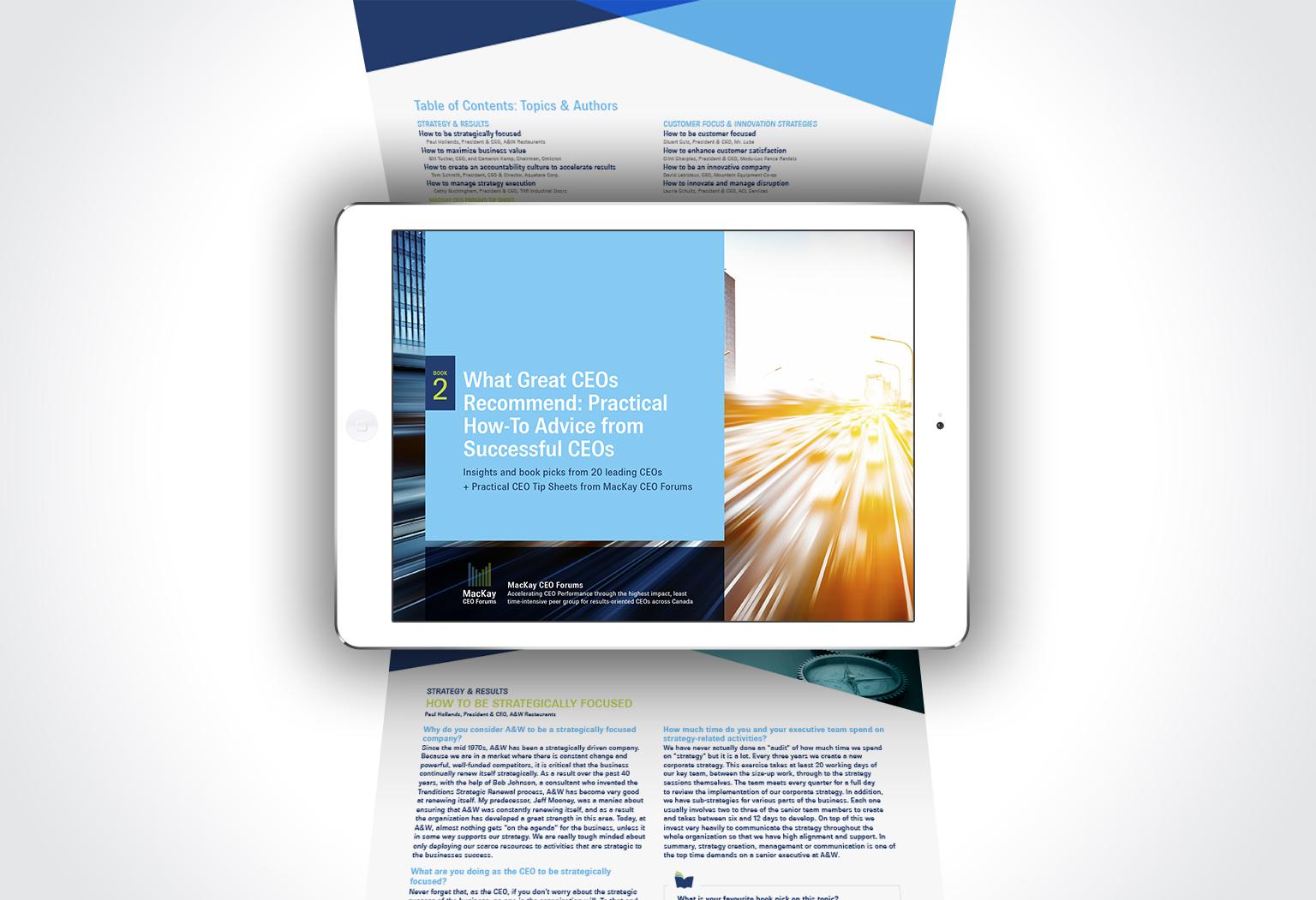 MacKay CEO Forums ebook design