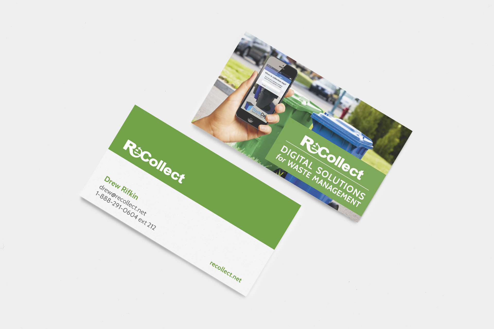 ReCollect business card design