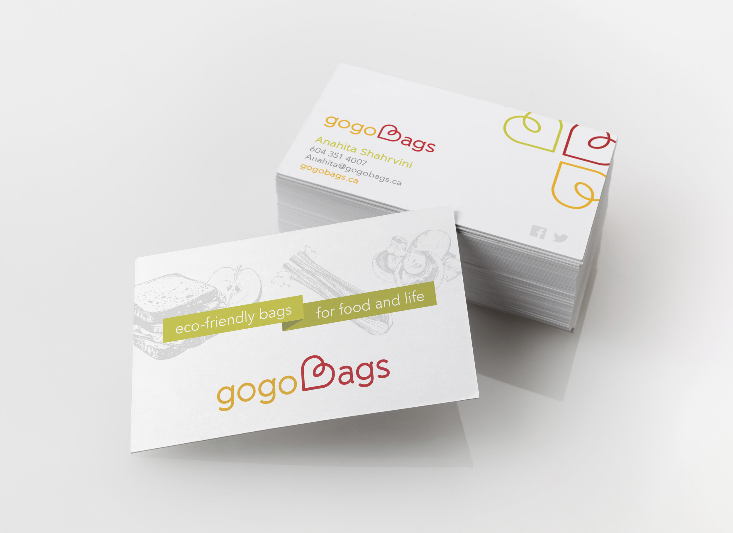 gogoBags business card design