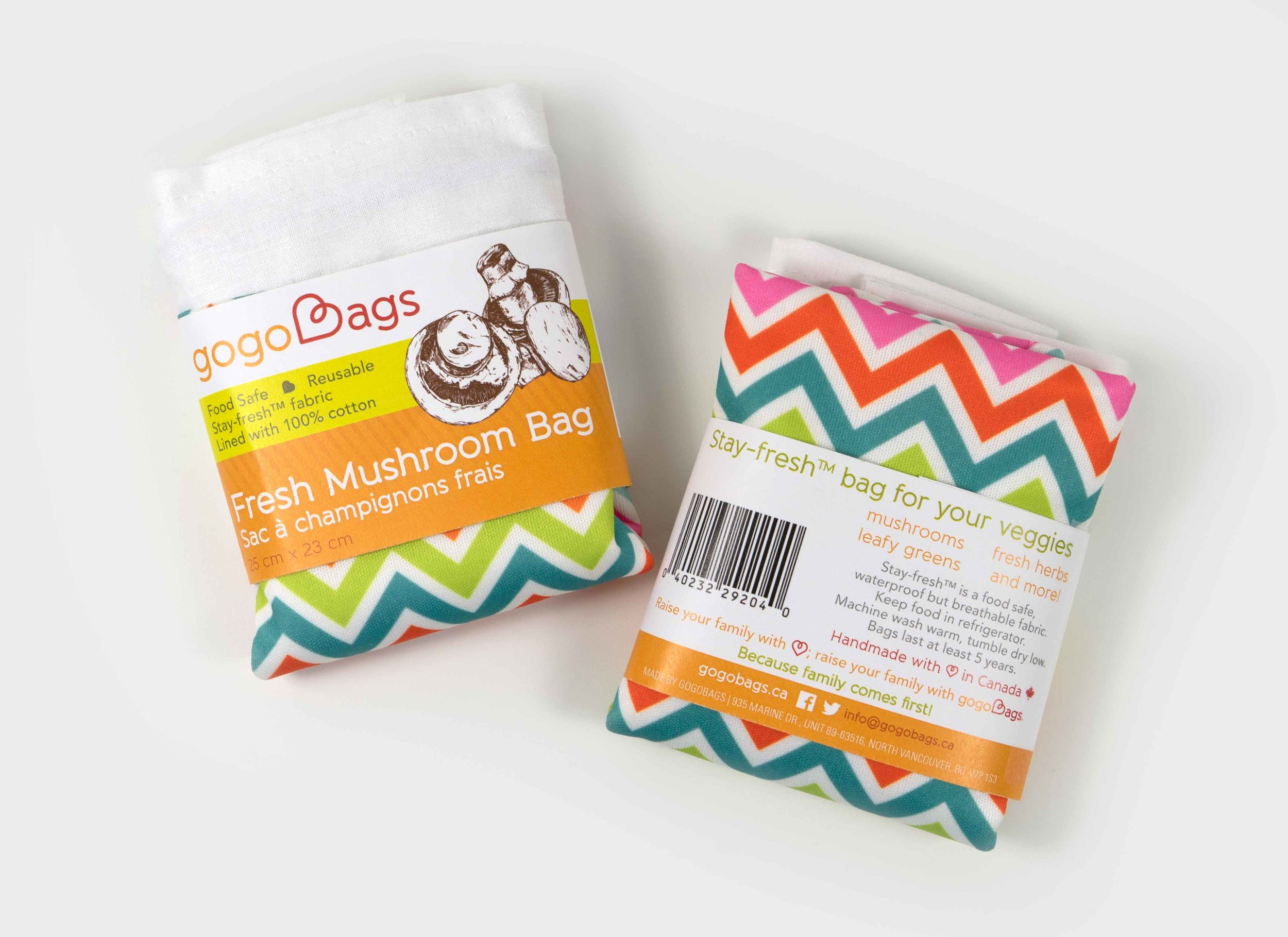 gogoBags fresh bags wrap packaging design