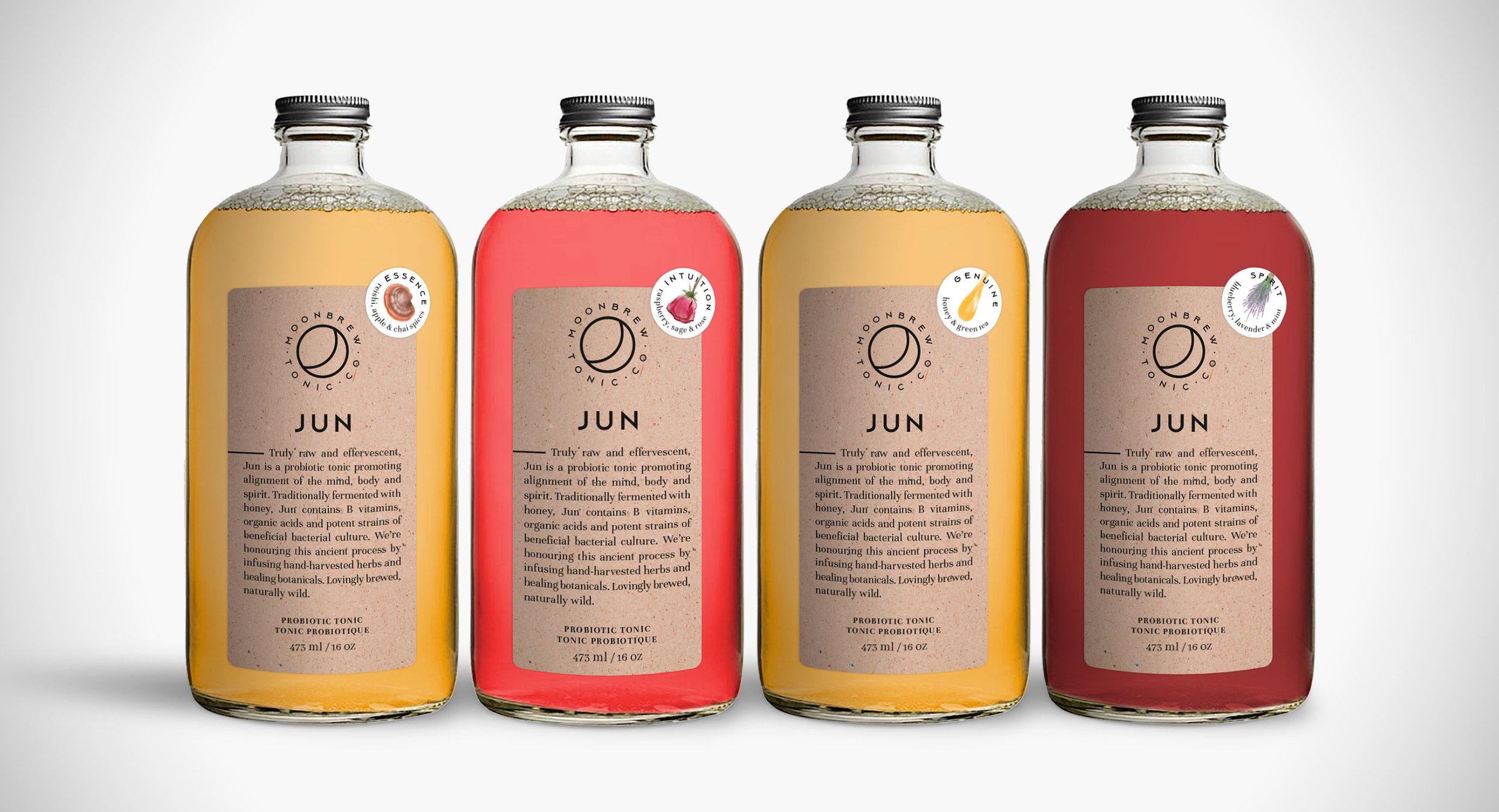 Dana Lu graphic design moonbrew tonic bottle label design