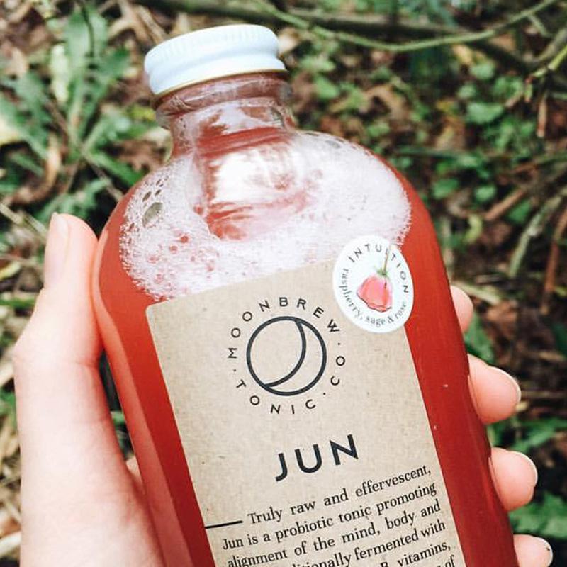 Dana Lu graphic design Moonbrew tonic jun beverage label design