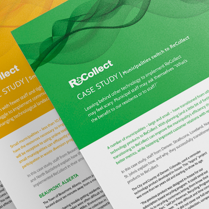 ReCollect brochure design