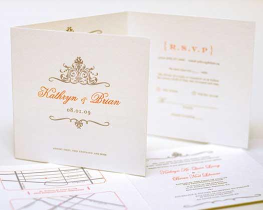 Letterpress wedding invite for a friend.