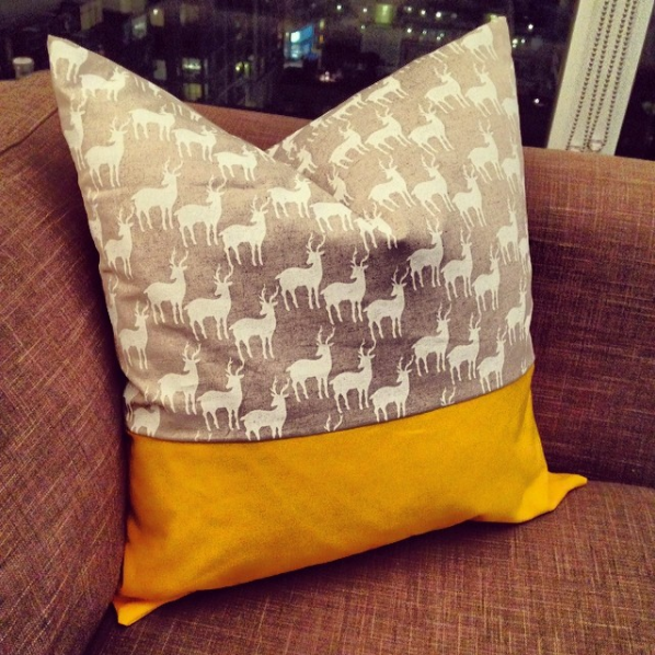 If you can sew a straight line, you can sew a cushion cover.