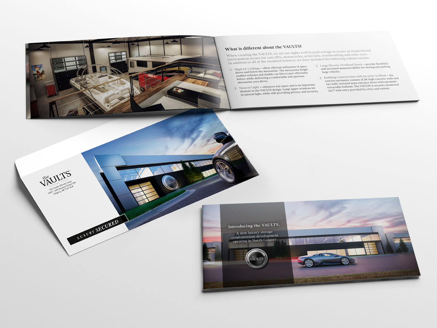 the Vaults mini brochure and envelope