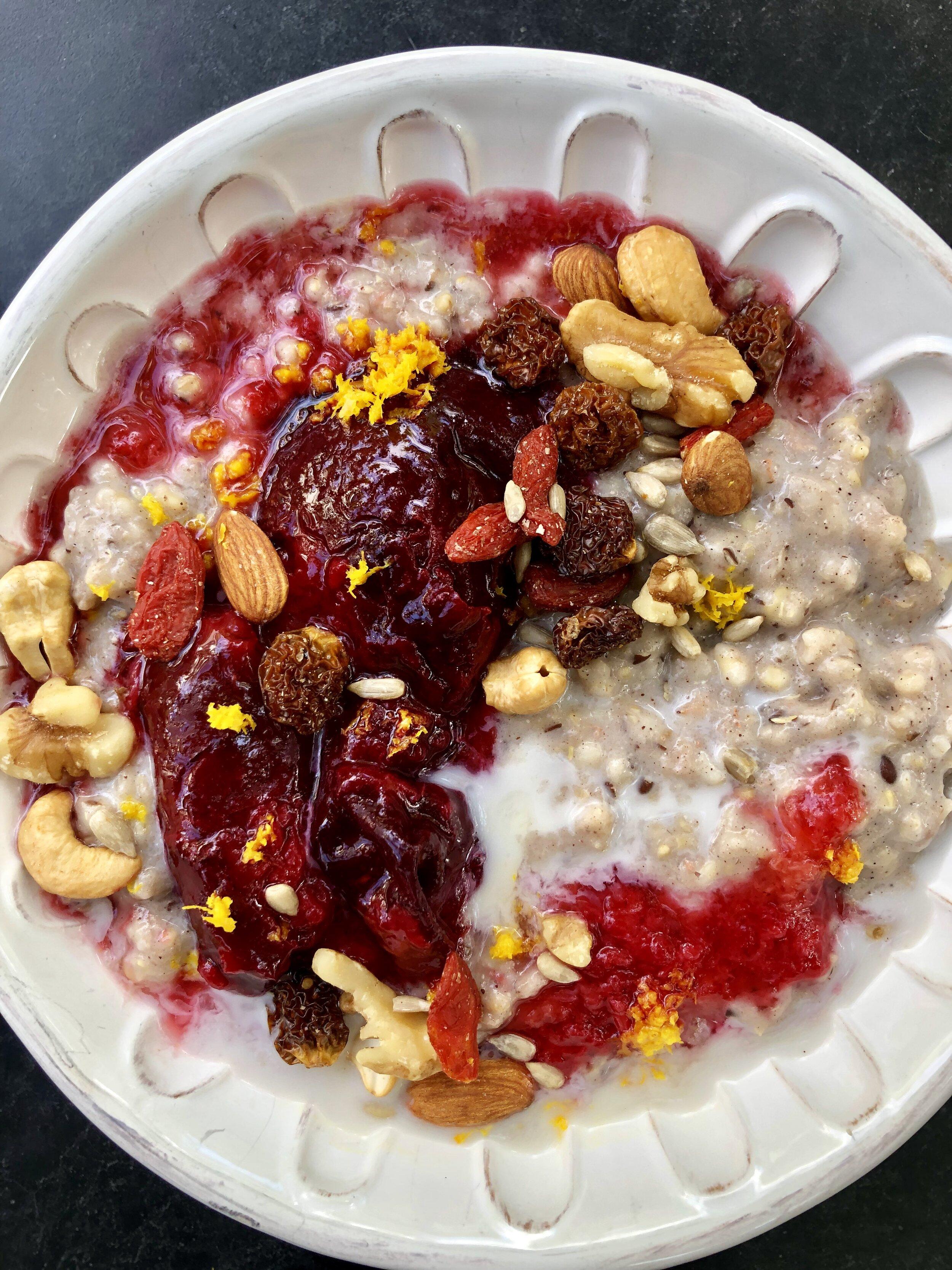 my edible advice plum porridge