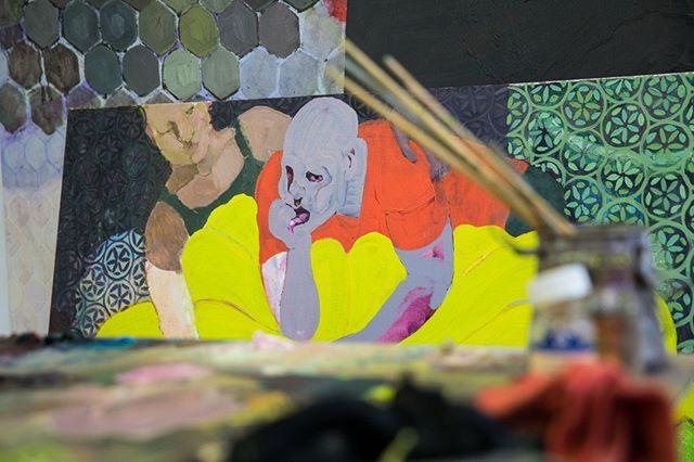 Layers. Color. Texture. The #trifecta from the mind of @laurengidwitz #studiovibes #LIC #talismanphoto . . . . . #artoftheday #fineart #artistatwork #artislife #arteverywhere #artist #artwork #artstudio #originalartwork #studiolife #studiovisit #workspace #studiovisit #artistsstudio #painter #painting #paintings #painterlife #instaartist #artistoninstagram #instaart #originalartwork #nycartist #nycpainter