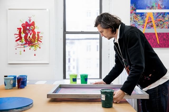 Imported from image metadata: Ryan McGinness, in studio. © 2018 TalismanPHOTO ------------