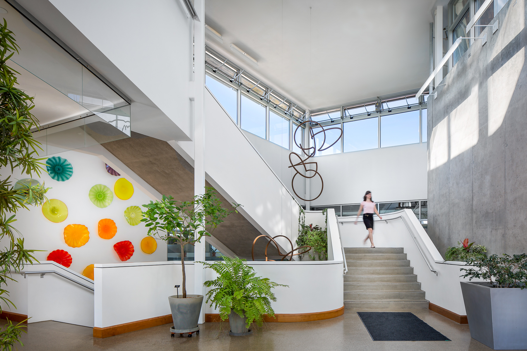Staircase and Artwork with Model
