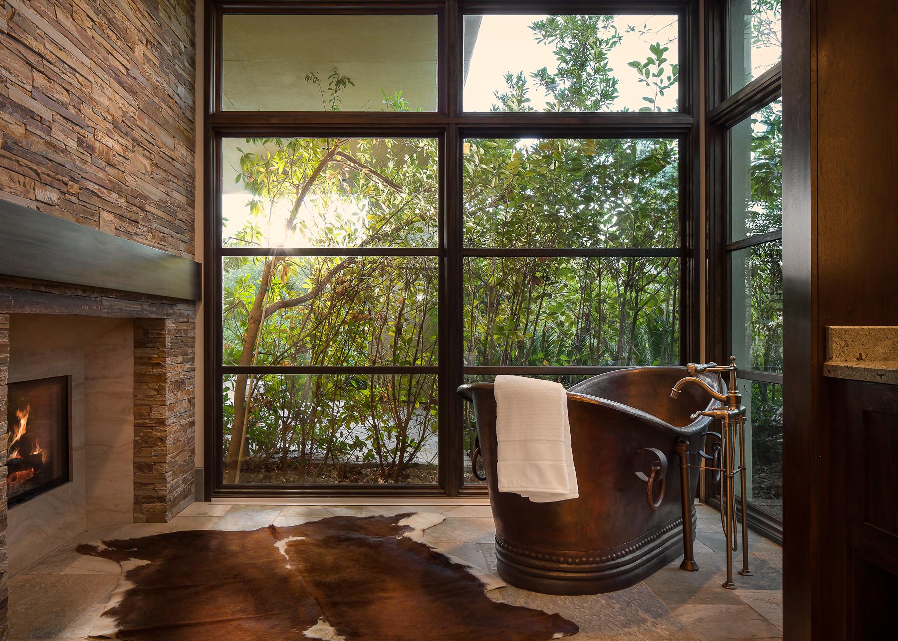 Bathtub and Fireplace