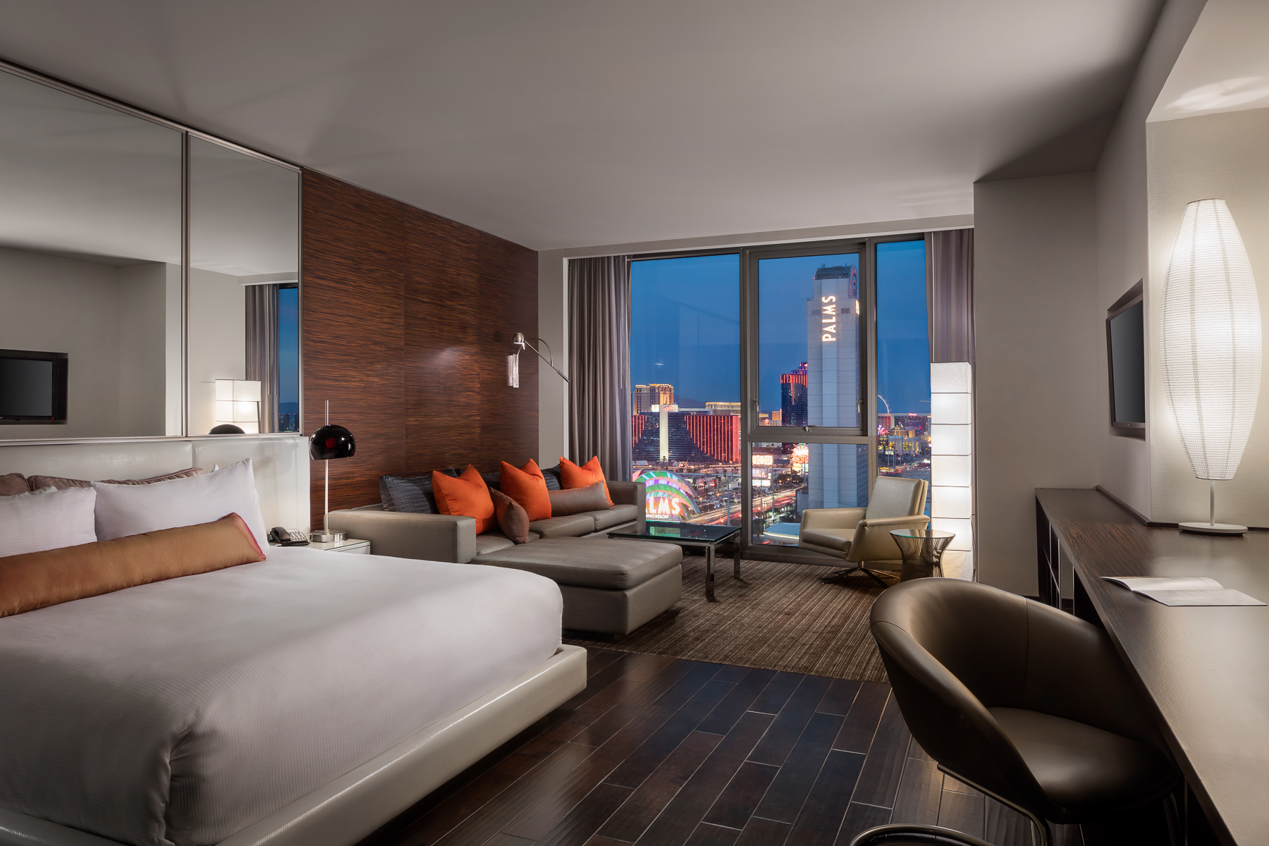Palms Place Room at Twilight