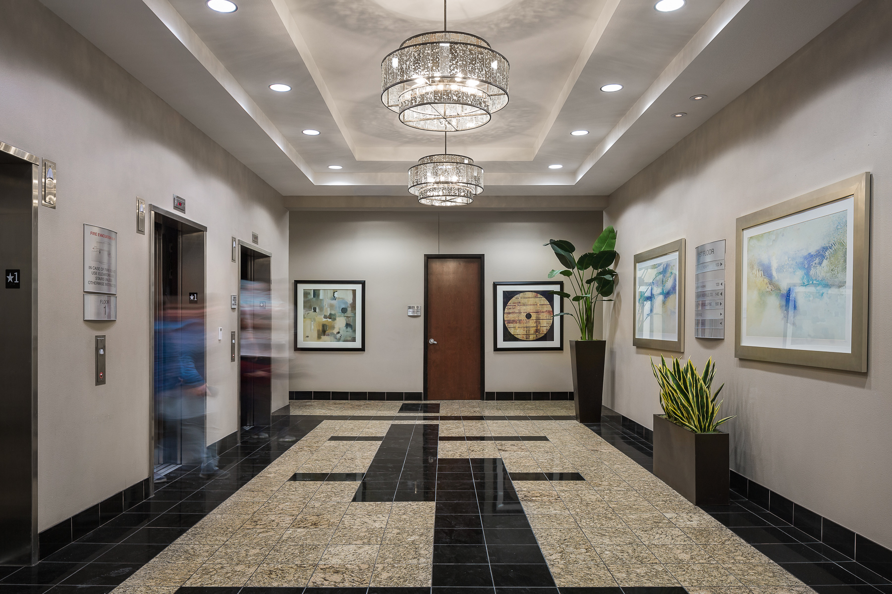 The Parkway Summerlin Office Building Elevator Lobby