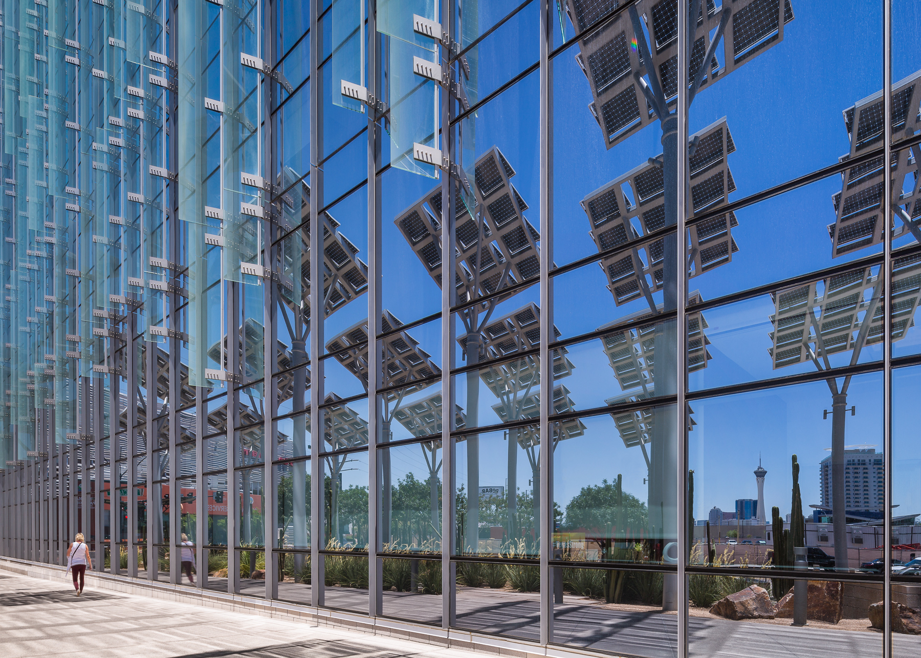 Las Vegas City Hall Solar Panel Reflections