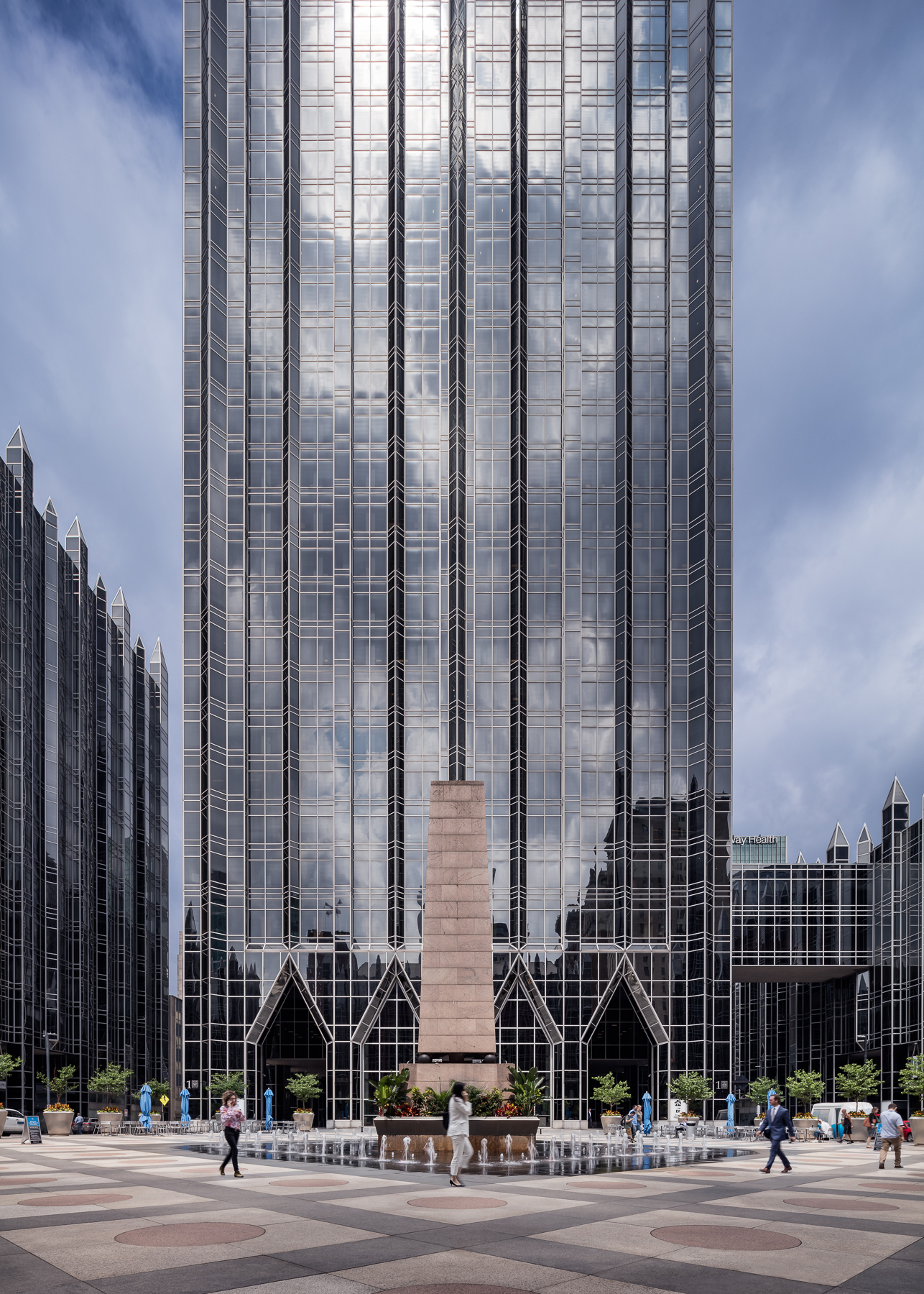 PPG Place Tower and Fountains