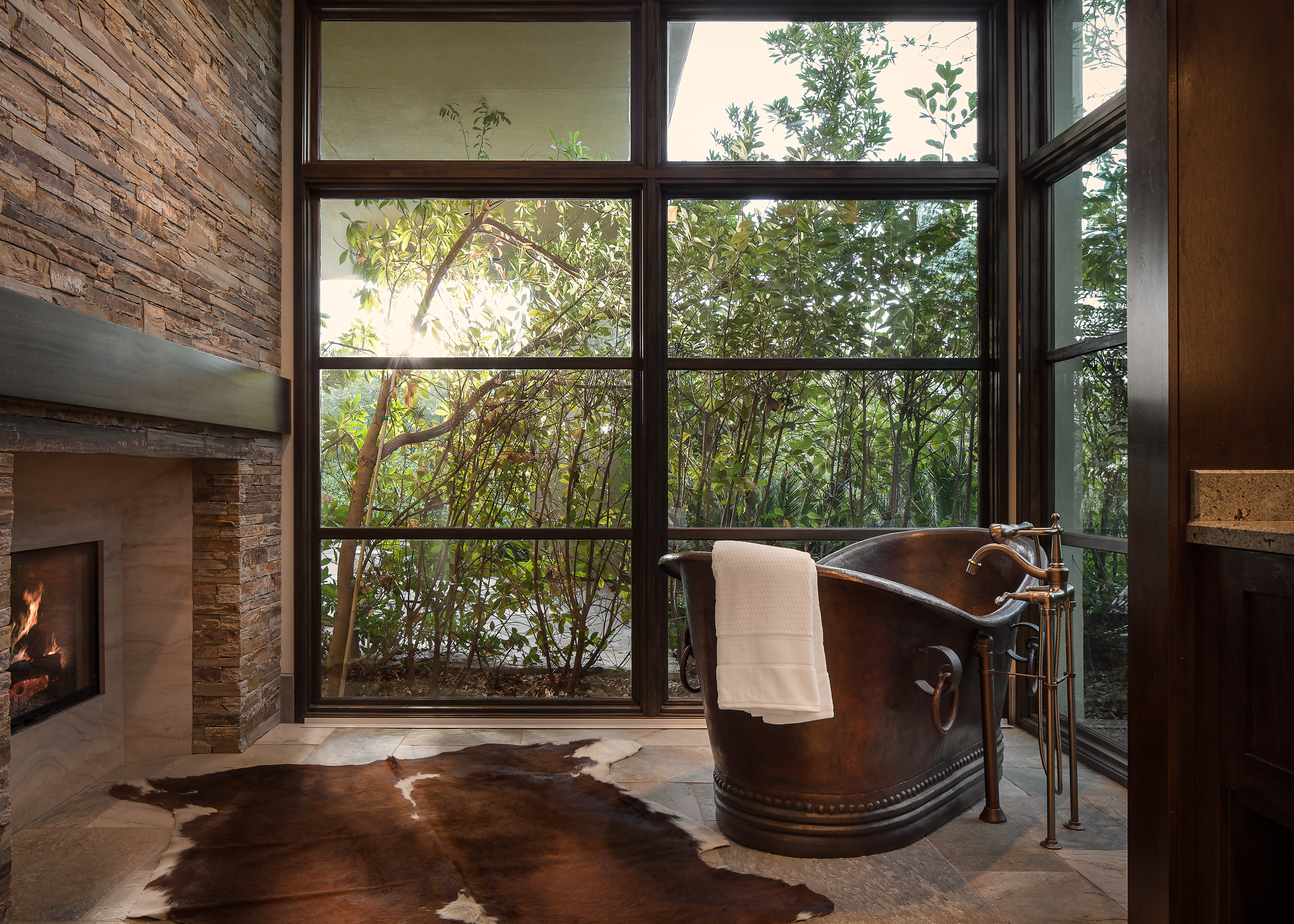 Bathtub and Fireplace
