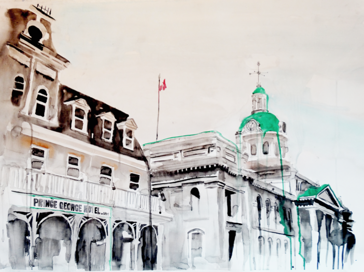 Prince George Hotel & Kingston City Hall | Art by Anthony Buttazzoni | www.anthonybuttazzoni.ca
