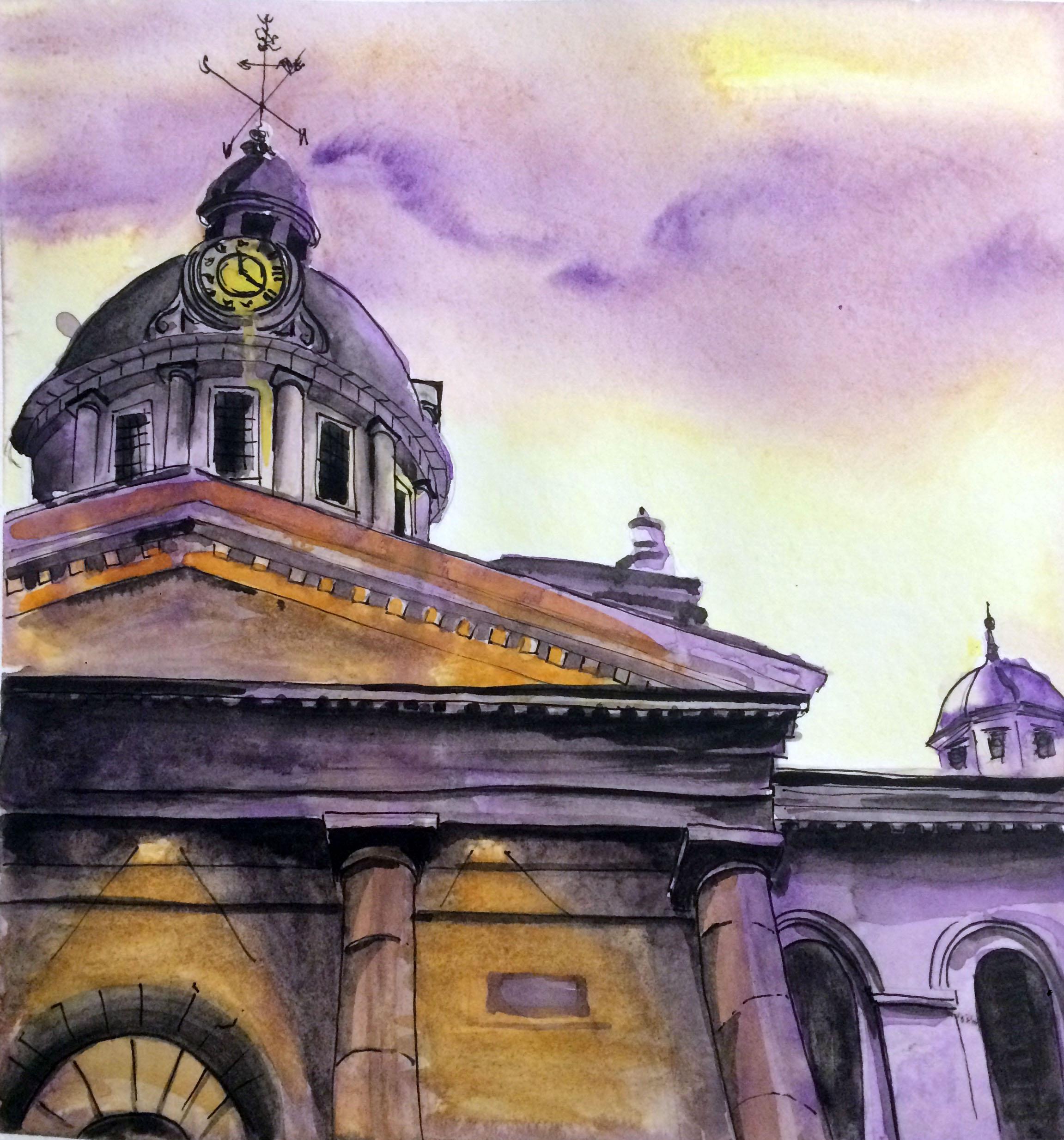 7 - City Hall in Purple