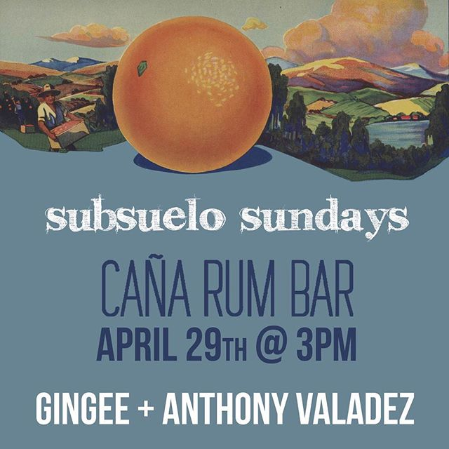 kickin summer things off this Sunday with our friends @anthonyvaladez and @gingeeworld 🍊 dancing outside under the sun at @canarumbarla 🕶 3pm til sunset