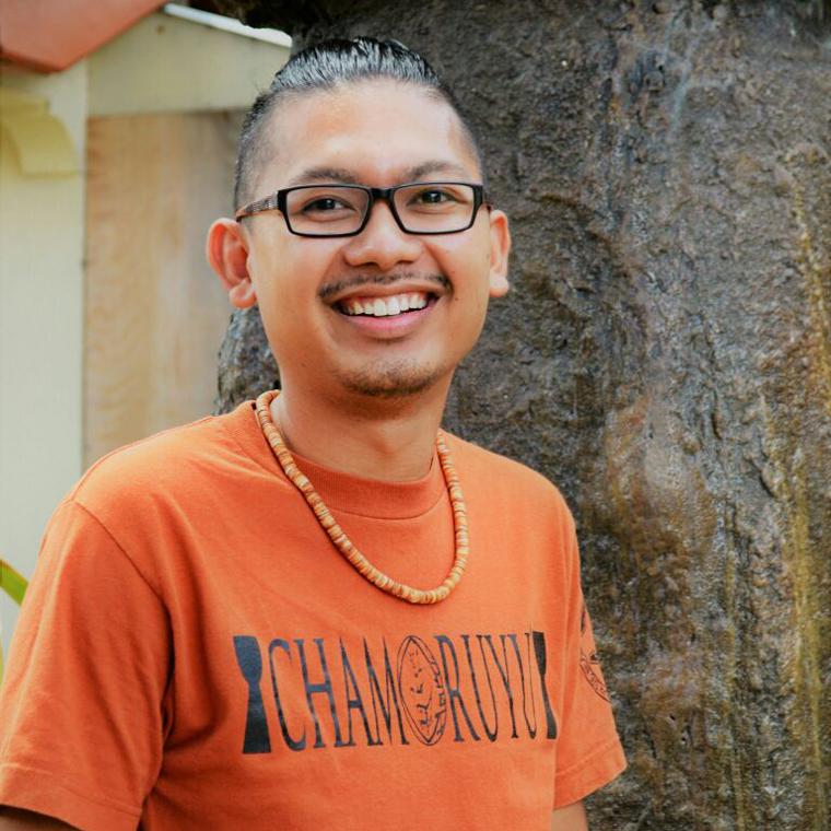 Sainan Ma'åse' | Frankie Casil II  Administrative Assistant Program Coordinator    Chamoru Studies Major, Techa, Photographer, Mt. Carmel Parish Youth Coordinator
