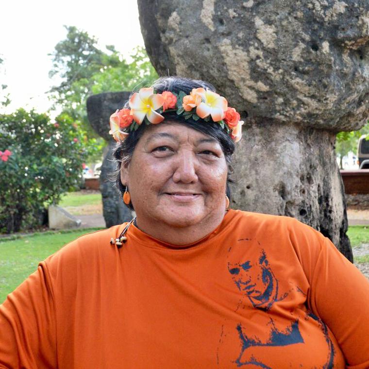 Sainan Geftåo | Juanita Peredo    Chamoru Immersion Educator,      Curriculum Writer, Translator    Retired Chamoru Language Teacher, Weaver, Performing Artist