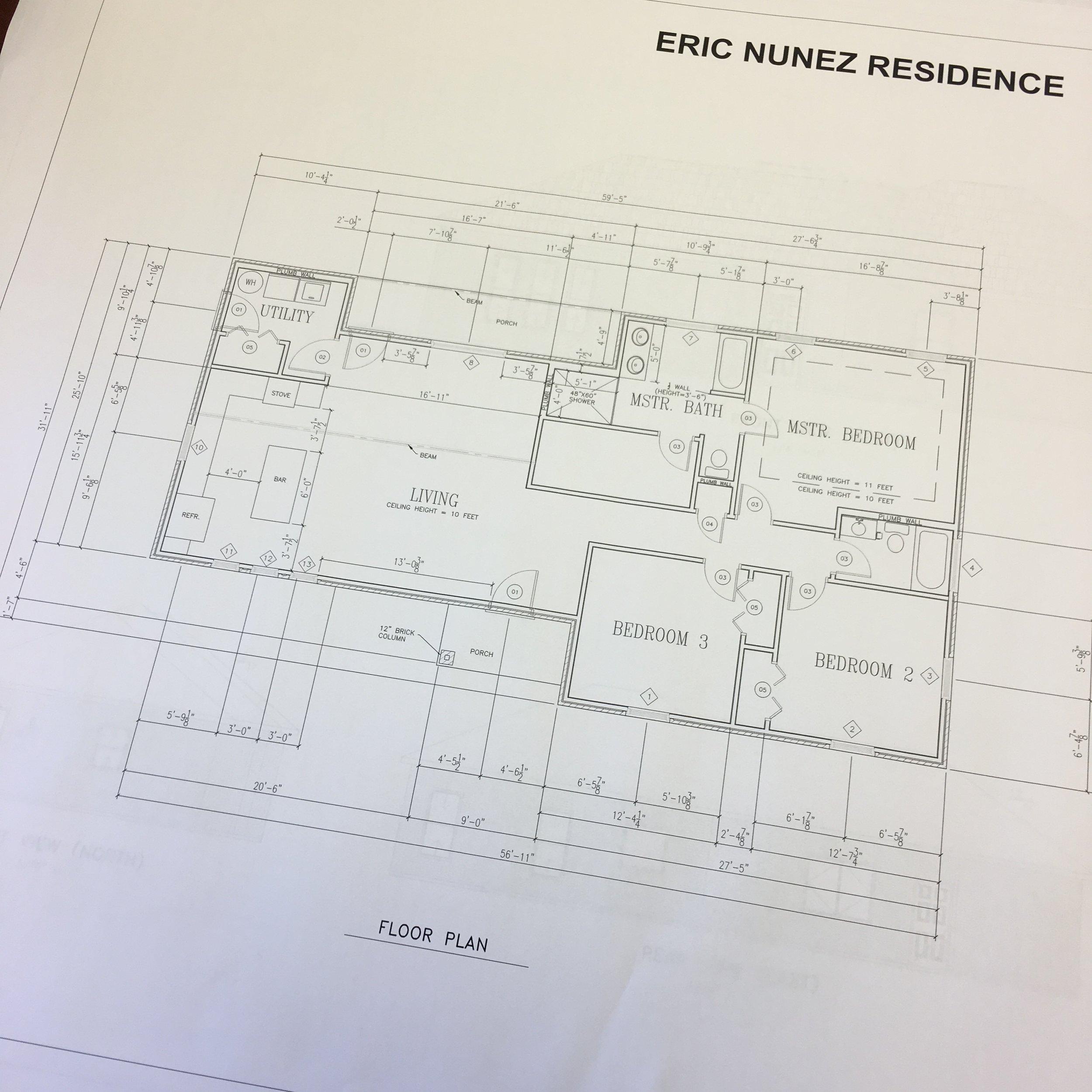 Final House Plans, April 2018