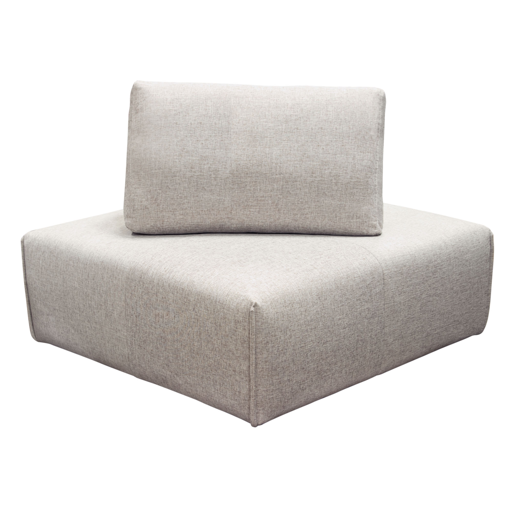 Square Corner  43 X 43 X 32 Adjustable backrest for dual seat depth. Interlocking system.