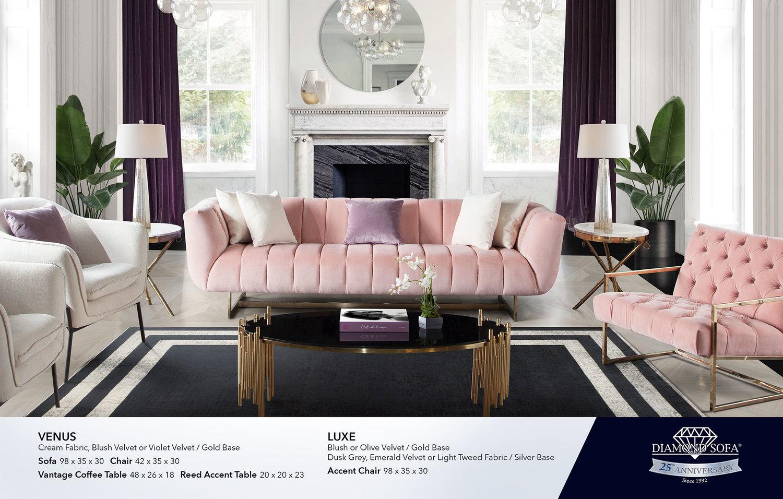 Living Room Diamond Sofa