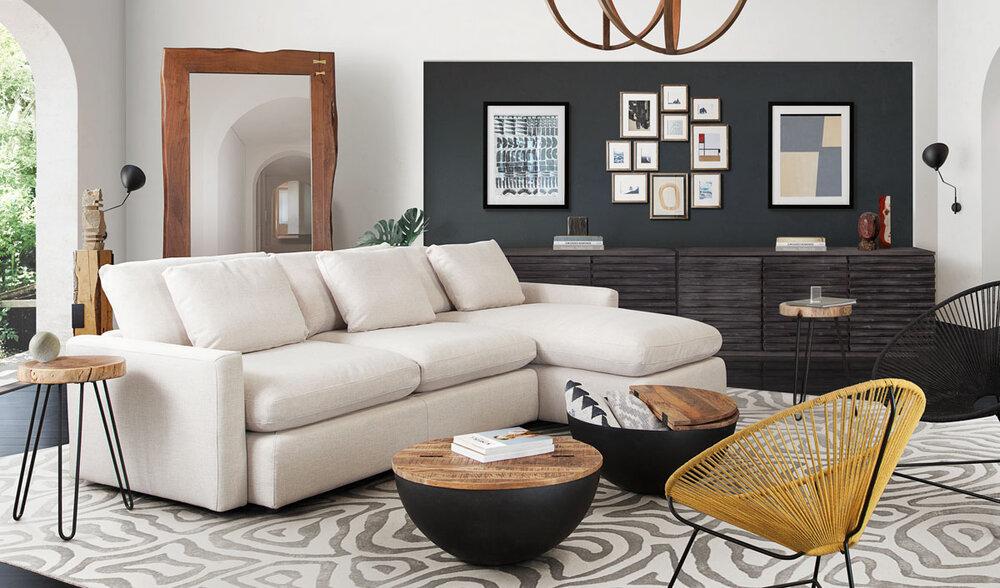 Modern Rustic Diamond Sofa, Rustic Modern Furniture