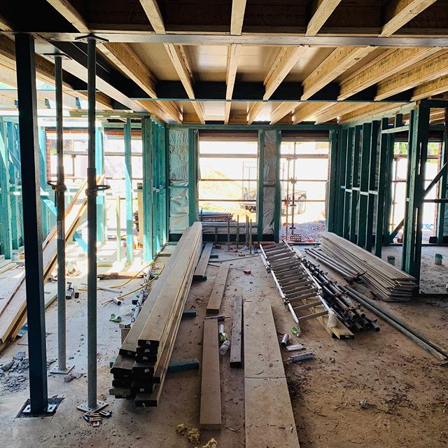 Ready for second level walls but have to remove the tiles on the existing roof to strip back to the apex and start again the extension of the roof. Bricking up the lift shaft with core filled blocks. #detailed #renovation #steel #structuralengineering #hgtv #property #demolition #childcare